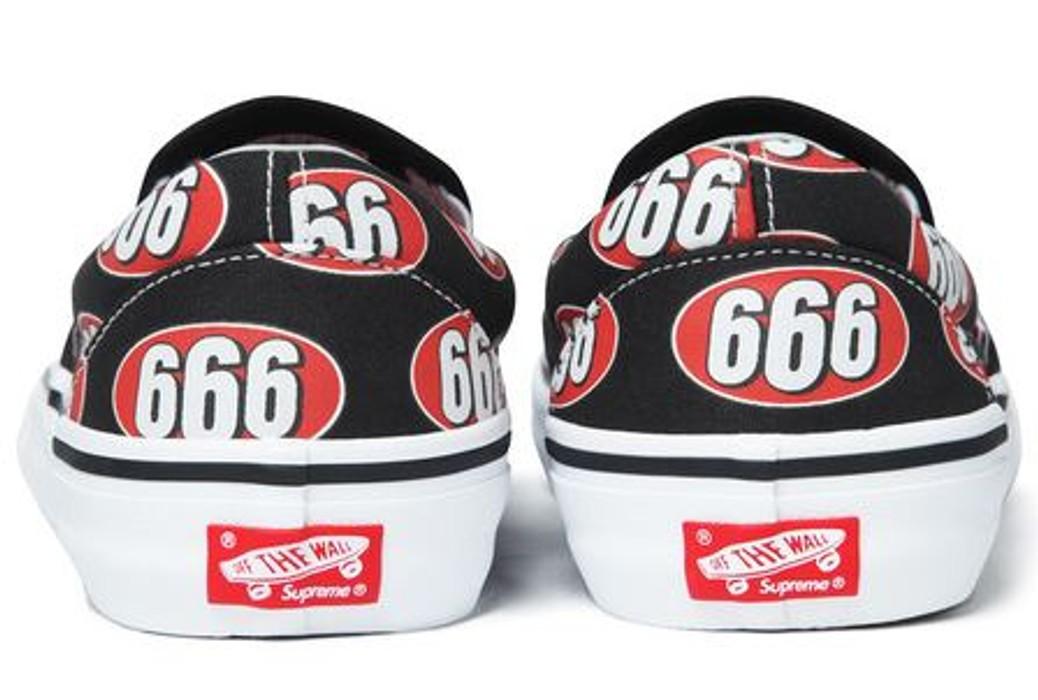 cf540eab16 Supreme Supreme Vans 666 Slip-On Black Size 9.5 - Slip Ons for Sale ...