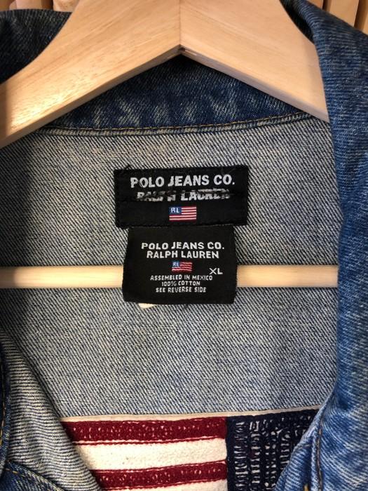 b21c719ddb8 Polo Ralph Lauren Vintage Polo Jeans Flag Denim Jacket!! Size US XL   EU