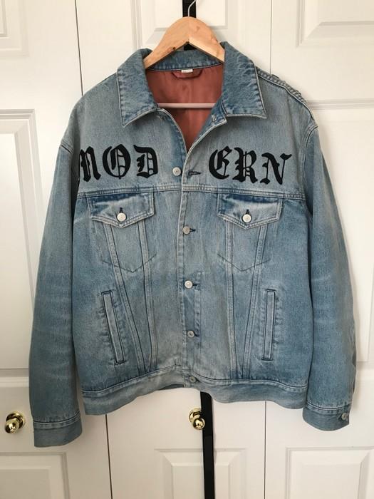72124b69a0bc Gucci Embroidered MODERN denim Jacket FINAL DROP Size US M   EU 48-50