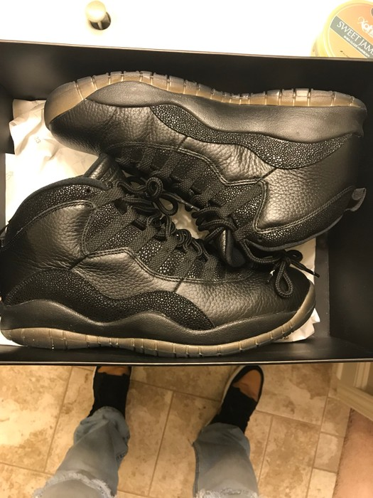 "95c34bc10ef5 Nike Air Jordan 10 Retro OVO Black ""Drake"" Size 10 - Hi-Top Sneakers ..."
