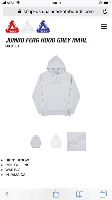 87e584fe5491 Palace Jumbo Ferg Hood Grey Marl Size m - Sweatshirts   Hoodies for ...