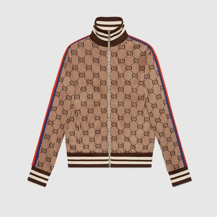 8acdd5d2c Gucci Jacquard Track Jacket Size s - Light Jackets for Sale - Grailed
