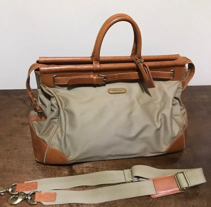 ba331e9e36 Polo Ralph Lauren Polo Ralph Lauren Canvas and Leather Trimmed Overnight Bag  Size ONE SIZE -