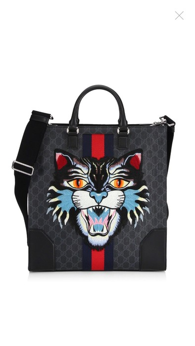 a523af4568da Gucci Gucci Angry Cat Embroidered Tote Size one size - Bags ...
