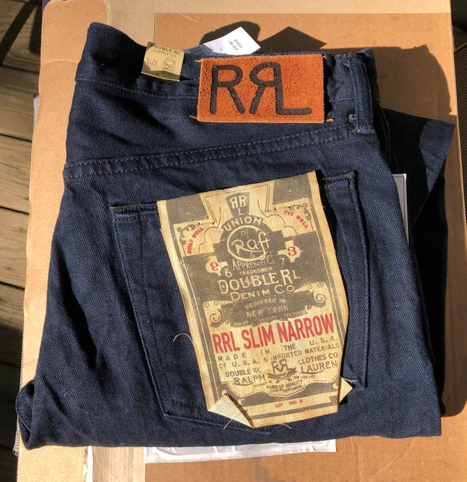 Rrl Nwt Rrl Made In Usa Selvedge Denim Jeans Double Indigo 32 X 34