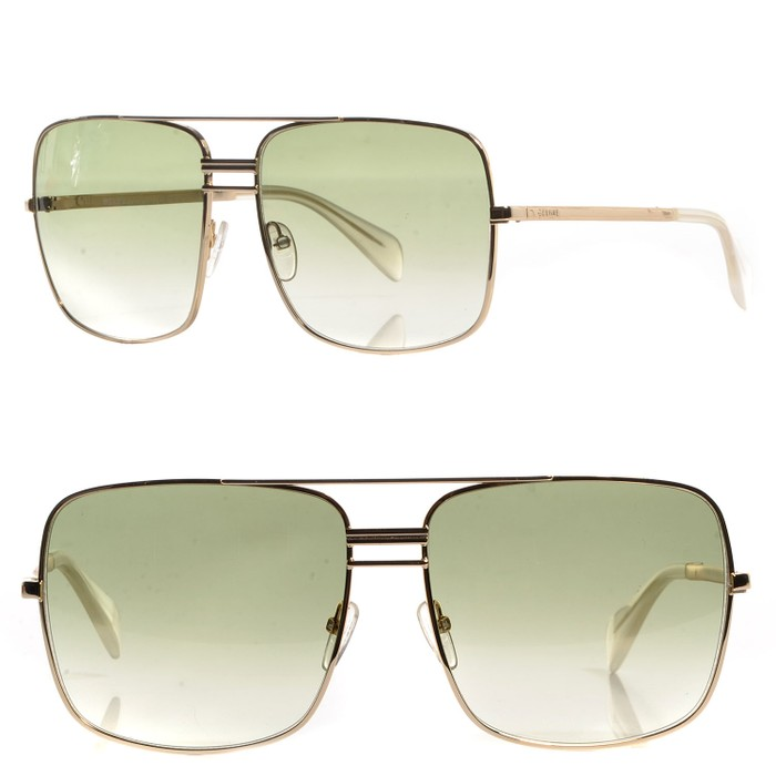 92c1bde2214 Celine NEW Celine CL 41808 S Oversized Gold Green Square Aviator Size ONE  SIZE