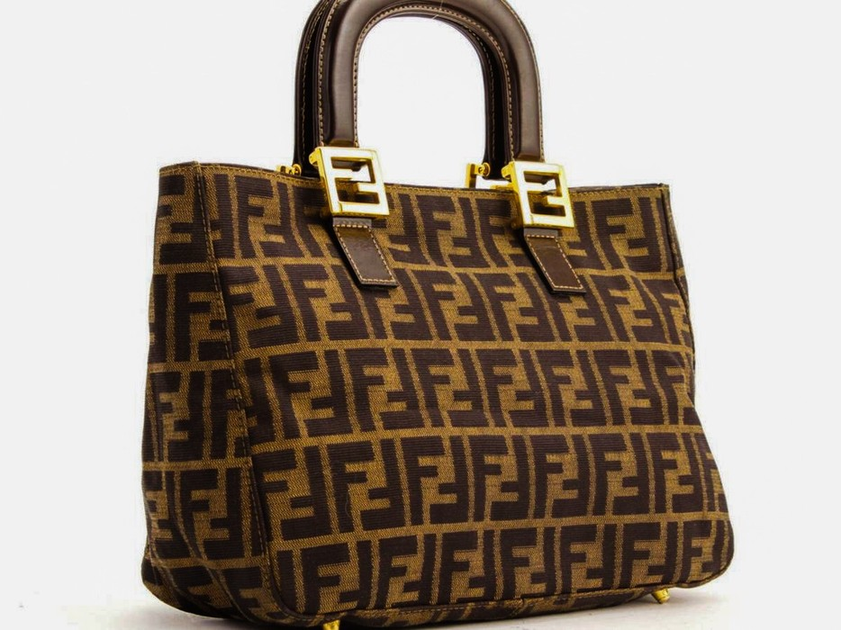 f5b48f2e628d Fendi AUTHENTIC FENDI BROWN ZUCCA TOP HANDLE BAG Size one size ...
