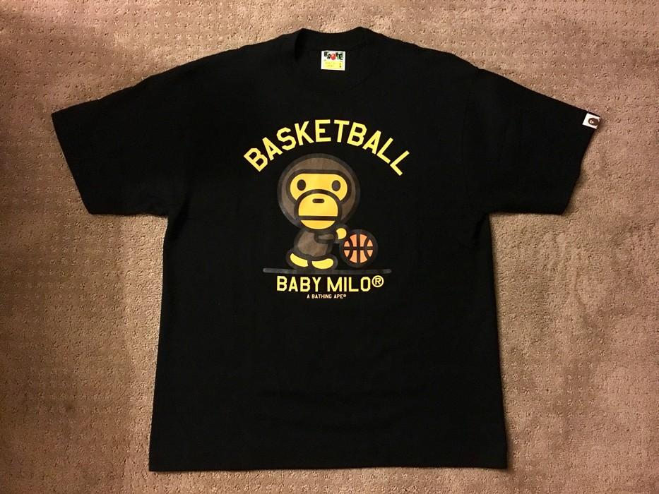3d8b51c9dfaa Bape × L.A. Lakers. A Bathing Ape Bape Baby Milo Basketball Kobe 24 Lakers  Tee T-shirt Black Size Large