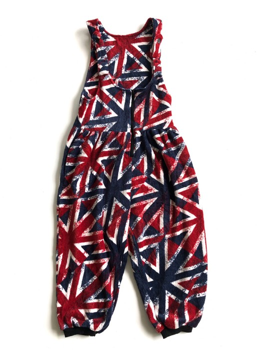8c8d96bb671 Designer Japanese Brand Banana Trip Jumpsuit Britain Flag Design Size US 29