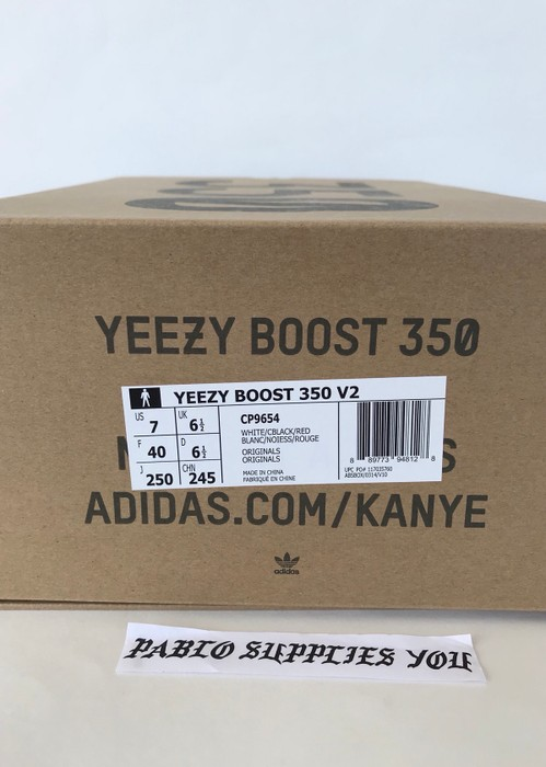 e21145cbe13 Adidas Yeezy Boost 350 V2 Zebra White Black Size US 7   EU 40 - 8
