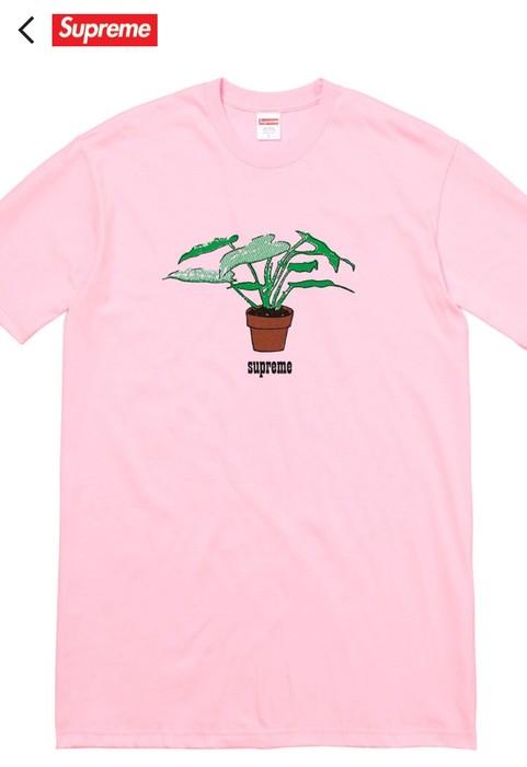 c32e6f624e2e Supreme Supreme Plant Tee Shirt Short Sleeve Light Pink Size US L   EU 52-