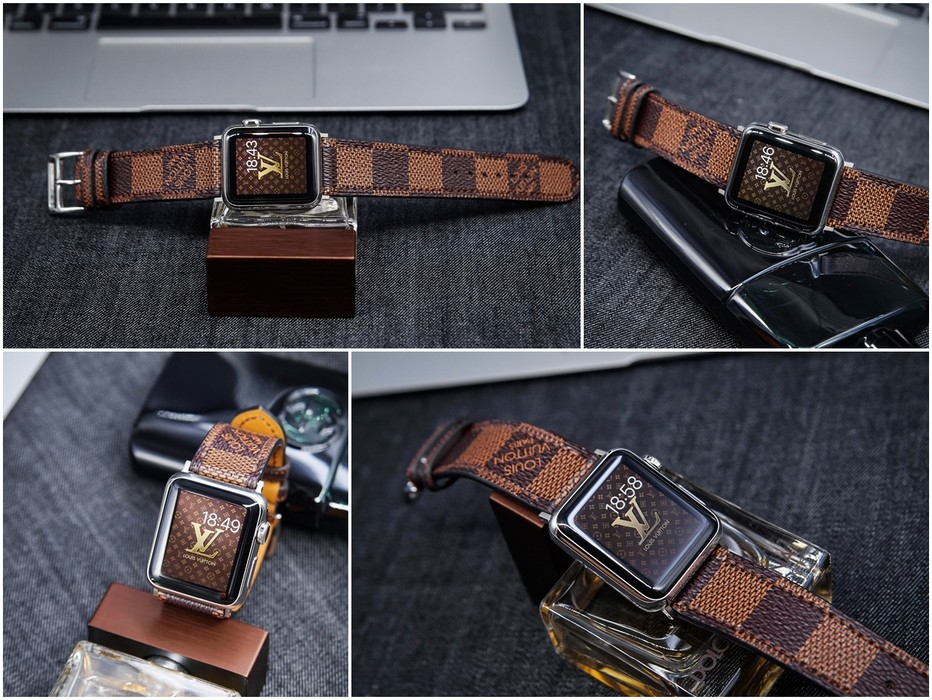 9c0a2a8d0f25 Handmade Louis Vuitton Apple Watch Band LV iwatch Band LV