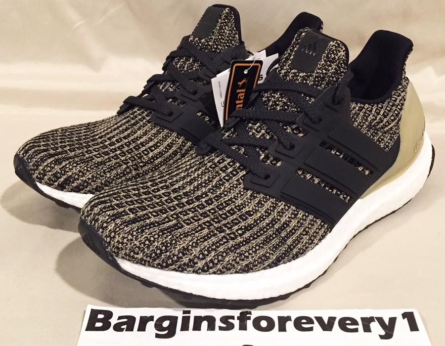 d2466153de0f6 Adidas New Men s Adidas UltraBOOST 4.0 - Size 7 - Black Gold ...