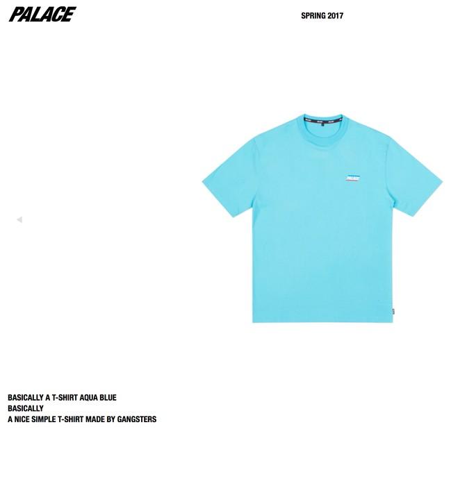 c06eb64d6cf7 Palace BASICALLY A T-SHIRT AQUA BLUE Size l - Short Sleeve T-Shirts ...