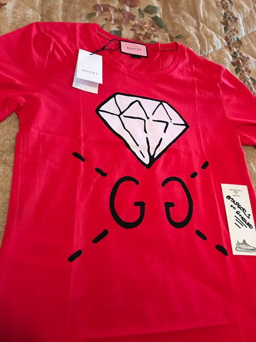 c6baa1bc929 Gucci Gucci Ghost GG Diamond Tee Shirt Size m - Short Sleeve T ...
