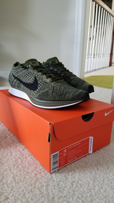 cdaeae30ed5f Nike Flyknit Racer  Rough Green  Size 10 - Low-Top Sneakers for Sale ...