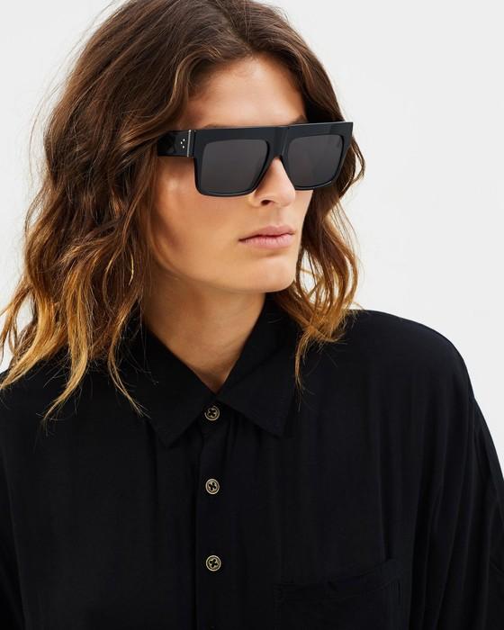 eaf24d52295d Celine NEW Celine ZZ Top Oversized Black Polarized Sunglasses Size ...