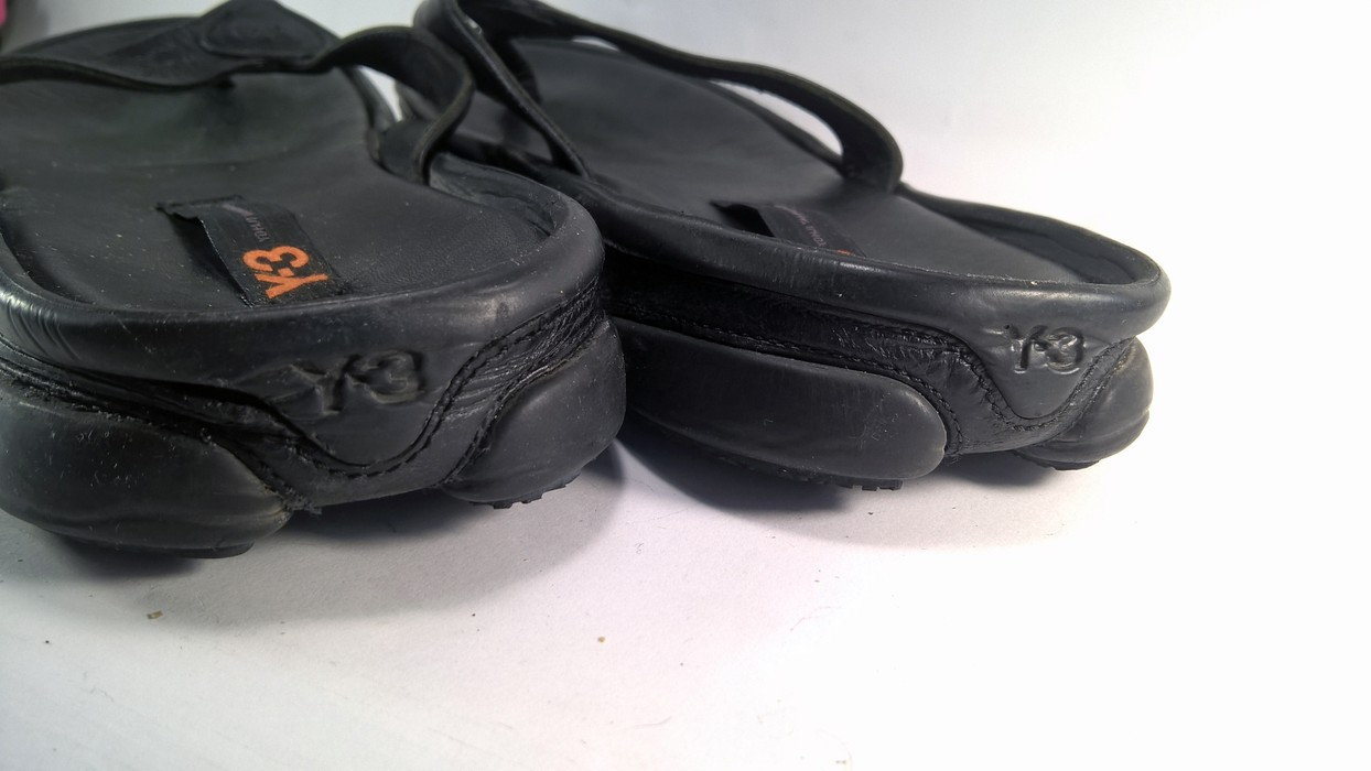5f24e37cd Adidas black leather SANDALS Y-3 Yohji Yamamoto Size 10.5 - Sandals ...