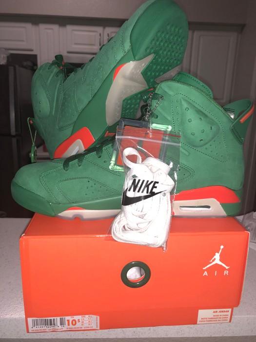 fcfc7ed01c47 Nike Nike Air Jordan 6 Retro NRG G8rd Pine Green Gatorade Aj5986-335  Deadstock Size