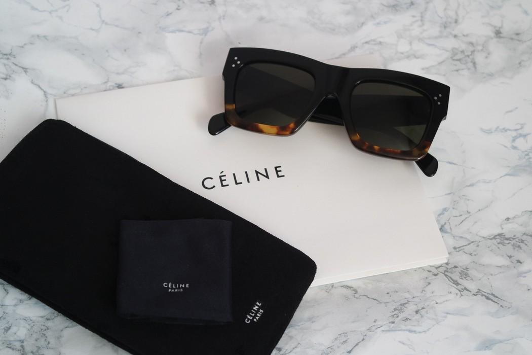 0e53612664e58 Celine NEW Celine 41054 Black Havana Oversized Flat Top Sunglasses Size ONE  SIZE