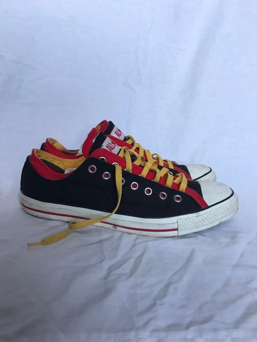 c600e190ed19b4 Converse Converse Double Tounge Chuck Taylor All Star Sneaker Shoe Black  White Red Green Rasta Low