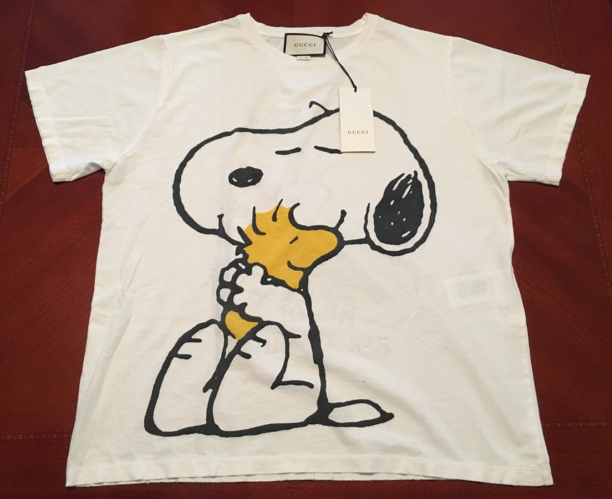 6f152e39797 Gucci Snoopy And Woodstock-print Cotton T-shirt Size m - Short ...