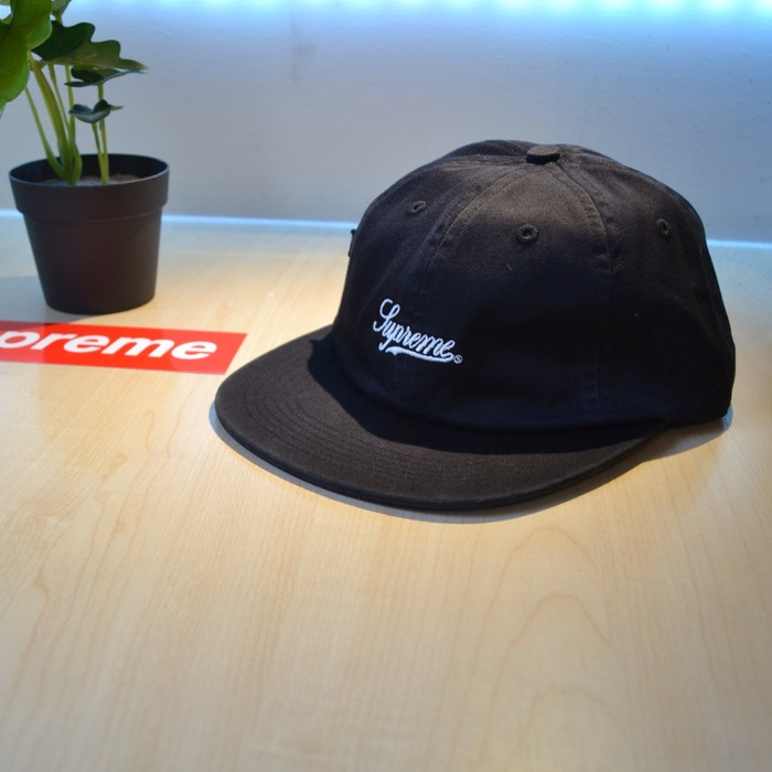 9d2a3997a5f Supreme Supreme Script Logo 6-Panel Fitted Hat Black Size one size ...