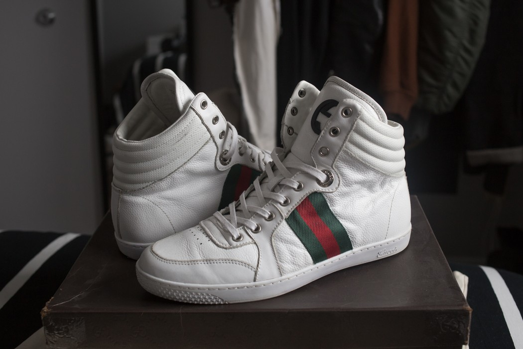 b3606d9b9e0 Gucci White Coda High Tops Size 8 - Hi-Top Sneakers for Sale - Grailed