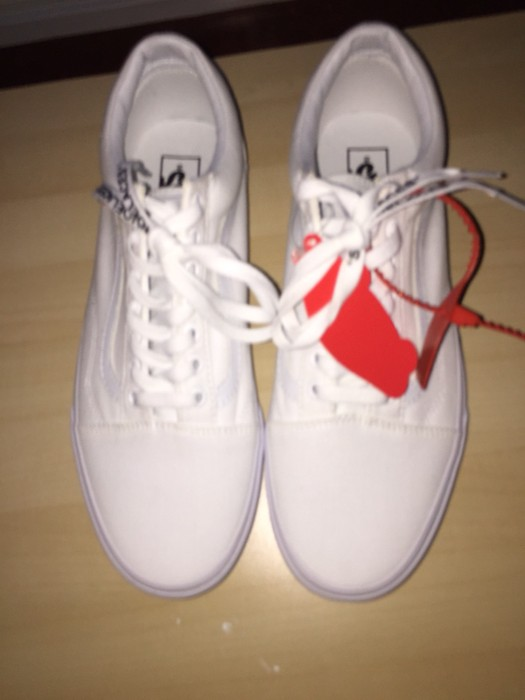 d7c69ea992 Off-White CUSTOM MADE OFF WHITE VANS Size 10.5 - Low-Top Sneakers ...