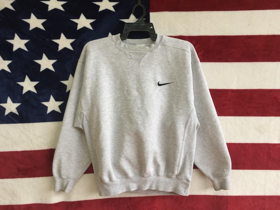 c13950261d Nike •Vintage 90s Nike Swoosh Small Logo Sweatshirt Grey Colour Nike ...