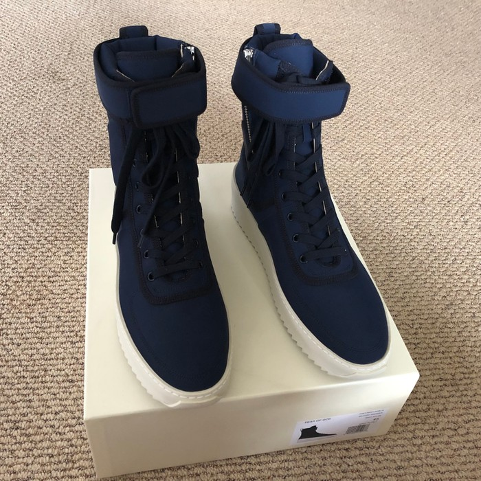 1ce552c37a16 Kith Nyc Fear of God x Kith Military Sneaker Navy New York Blue 45 Size US