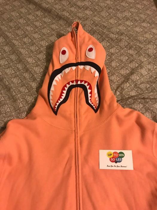 a21ec6f1fe67 Bape PONR Peach Pink Shark Hoodie SS17 Size xl - Sweatshirts ...