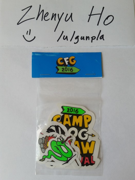 81b12c6d05e4b5 Odd Future 2016 Camp Flog Gnaw Carnival Sticker Pack Size one size ...