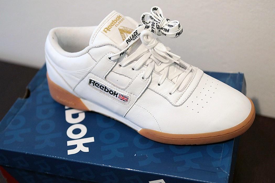 d9d99489024 Palace Palace Skateboards x Reebok Workout Low - White   Gum - size US 10 UK