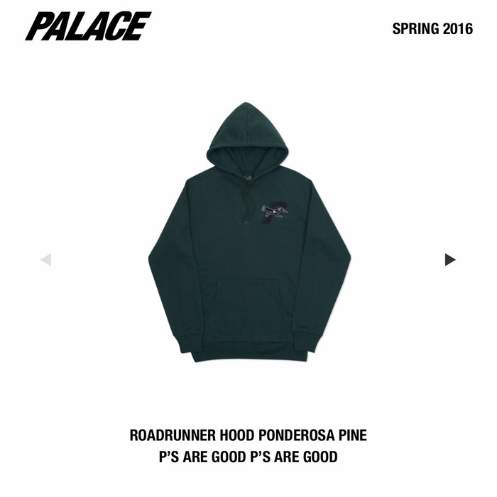 508ac4a8e30a Palace Palace Roadrunner Hoodie in Pine Green 🌲 Size US L   EU 52-54