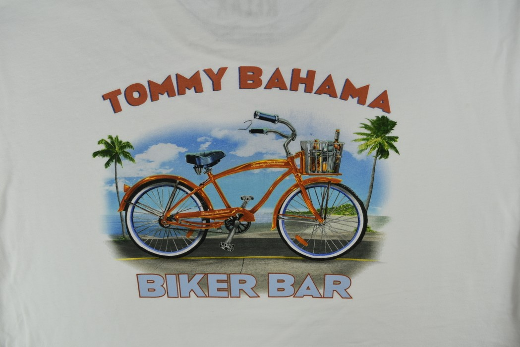 Tommy Bahama Tommy Bahama Mens Graphic T-Shirt Size XXXL 3XL Biker Bar Tee Size