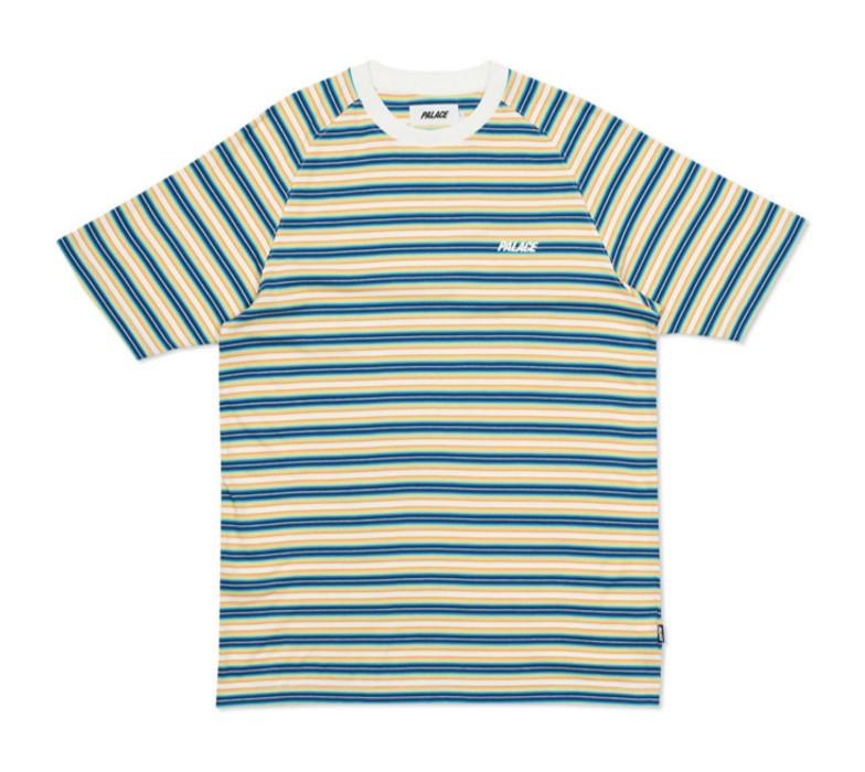 a9aeea3d959a Palace PALACE SKATEBOARDS Neon Stripe S S T-Shirt Yellow White ...