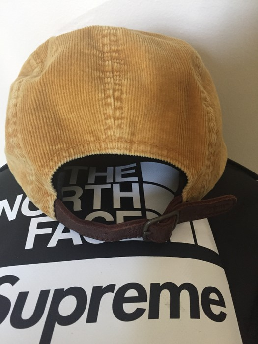 13f4d0a04fb Supreme Gold Corduroy Camp Cap Size one size - Hats for Sale - Grailed