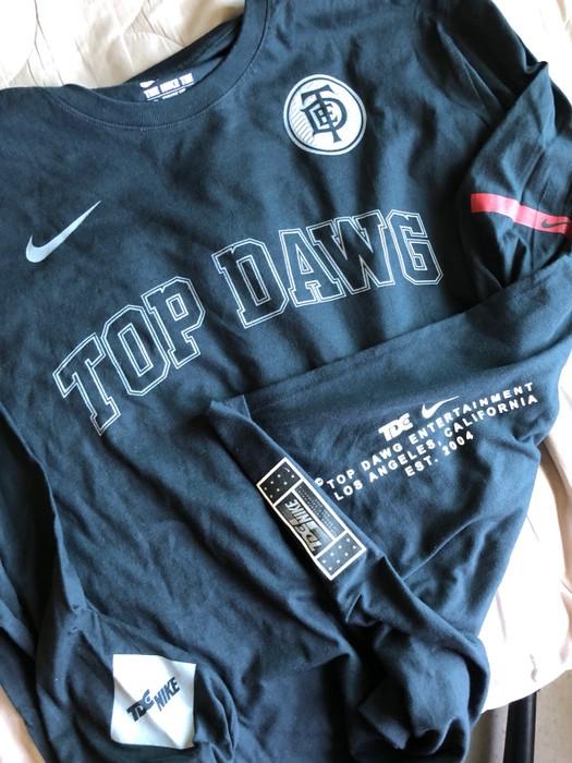 3beb1284 Nike Kendrick Lamar Black Top Dawg Championship Tour Nike Long Sleeve Size  US M / EU