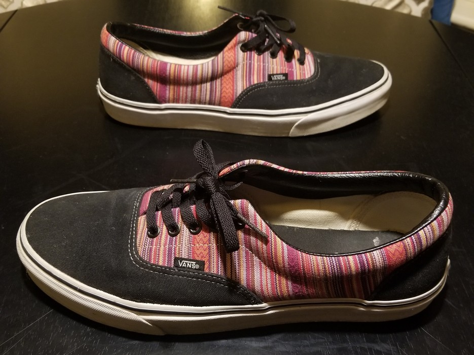 fa9bdea23b Vans Vans Era Guate Weave Black   Multi Stripe Skate Shoe Size US 13   EU