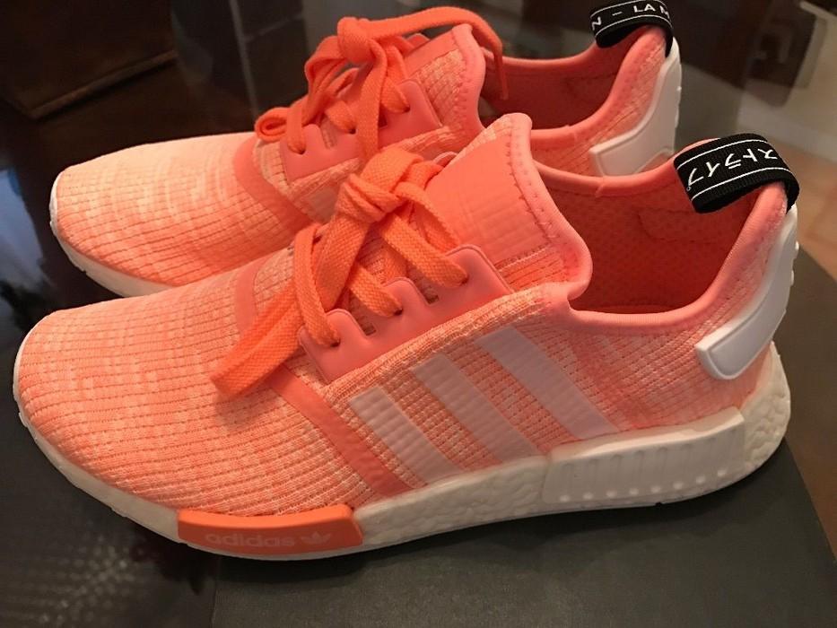 c0f9a11b5 Adidas Adidas NMD R1 Sun Glow Salmon Pink Haze Coral Women Size 7 BY3034  Ultra Boost
