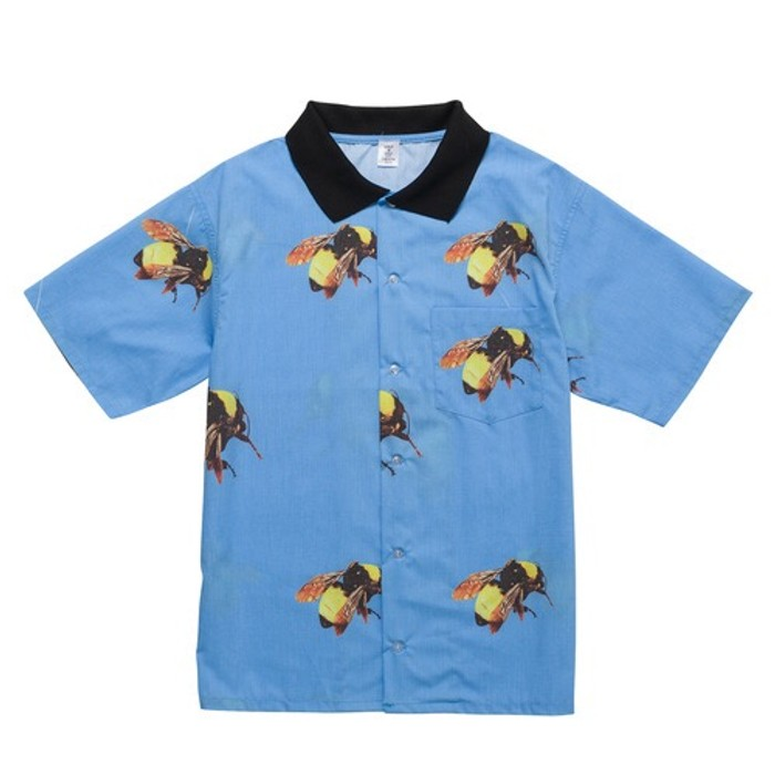 2bfc4f74e41 Golf Wang Blue Bee Button Up Size m - Shirts (Button Ups) for Sale ...