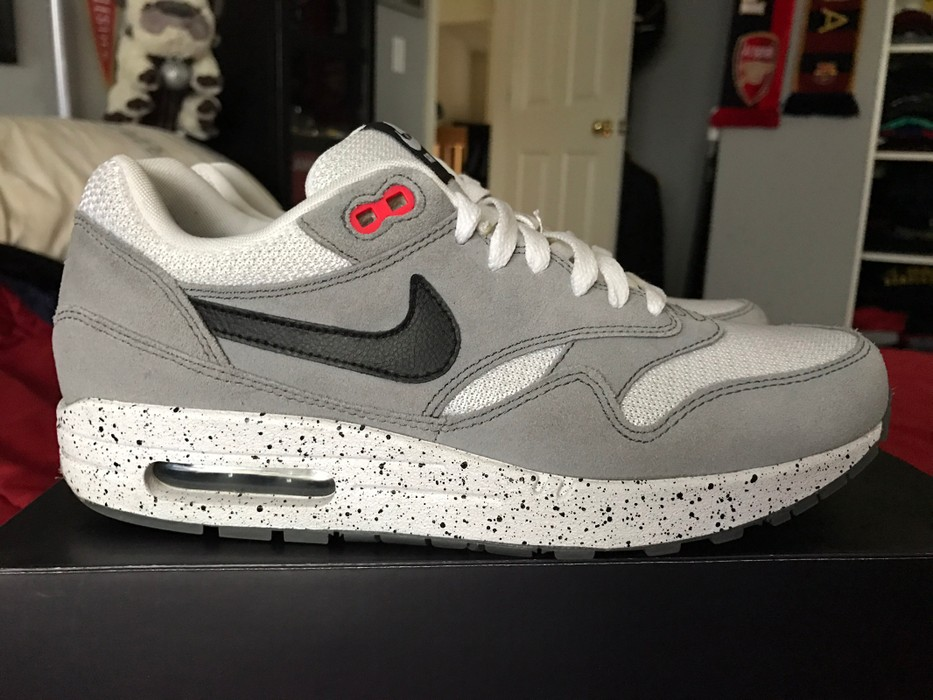 newest 06eda 92668 Nike. Nike Air Max 1 - Jordan White Cement 4 CUSTOM ID