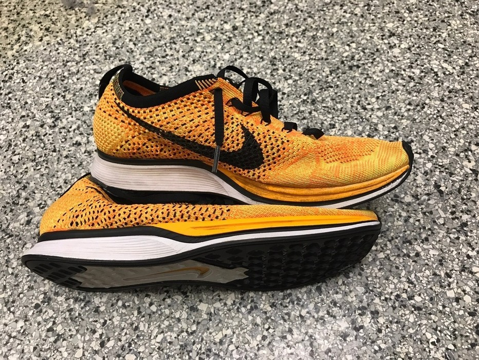 81091470eea7 Nike FlyKnit Racer Cheeto Size 8.5 - Low-Top Sneakers for Sale - Grailed