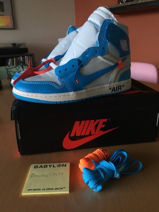 "3590d56979f131 Nike Nike X Off-White Jordan 1 ""UNC"" Size 7.5 - Hi-Top Sneakers for ..."