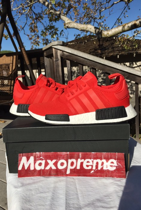 2f7139067 Adidas NMD R1 Clear Red Size 8.5 - Low-Top Sneakers for Sale - Grailed
