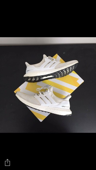 253ad8da57c47 Adidas Adidas Ultra Boost V1 Triple White Size 9 - Low-Top Sneakers ...
