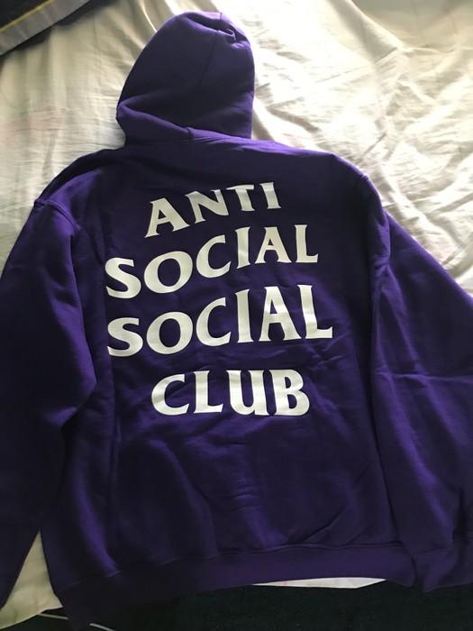 3ea355a4c254 Antisocial Social Club Purple Rain Hoodie Antisocial Social Club Size US M    EU 48-