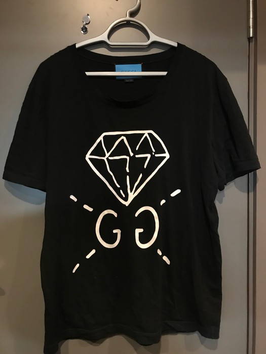 b62128ed782 Gucci Gucci x Gucci Ghost Diamond Spray T-shirt Size l - Short ...
