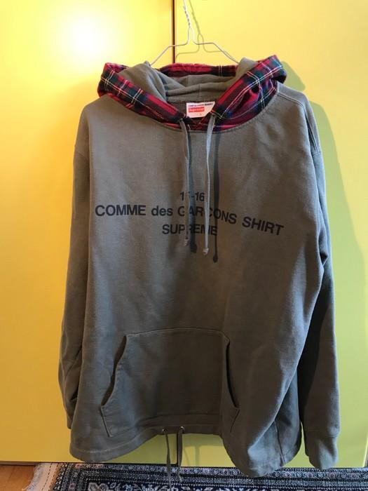1d0441c613c1 Supreme Supreme X Cdg Hoodie 15-16 Olive Size l - Sweatshirts ...